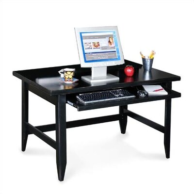 kathy ireland Home by Martin Furniture Tribeca Loft Black Writing Computer Desk with Keyboard Pullout