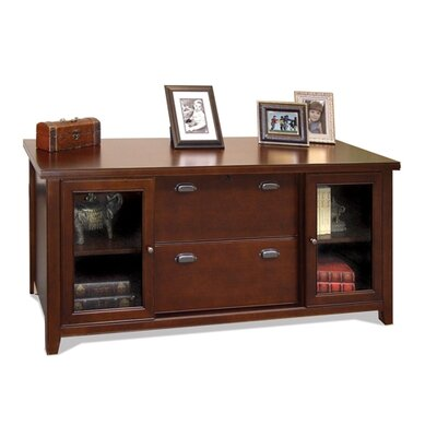 kathy ireland Home by Martin Furniture Tribeca Loft Cherry Storage Credenza