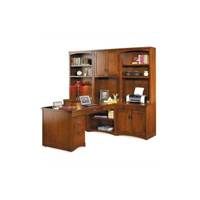 kathy ireland Home by Martin Furniture Mission Pasadena L-Shape Desk Office Suite