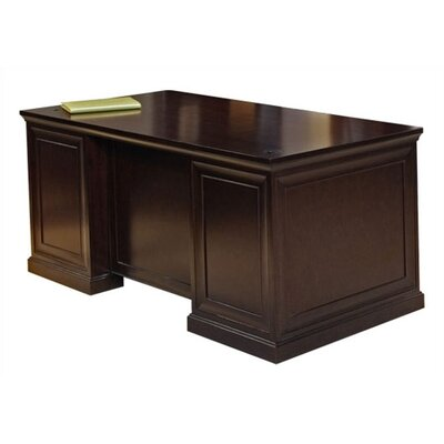 "kathy ireland Home by Martin Furniture 72"" Double Pedestal Executive Desk"