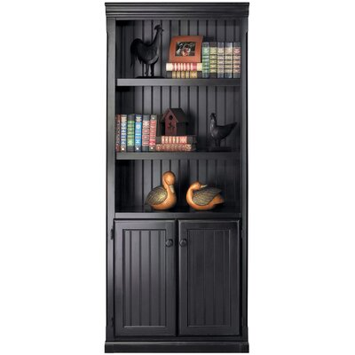 "kathy ireland Home by Martin Furniture Southampton Onyx Lower Door 73"" Bookcase"