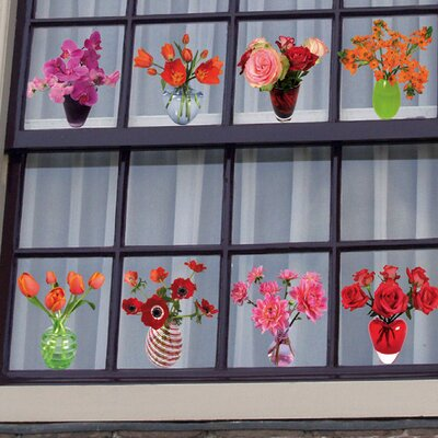 Oots Flat Flowers Window Sticker by Suseela