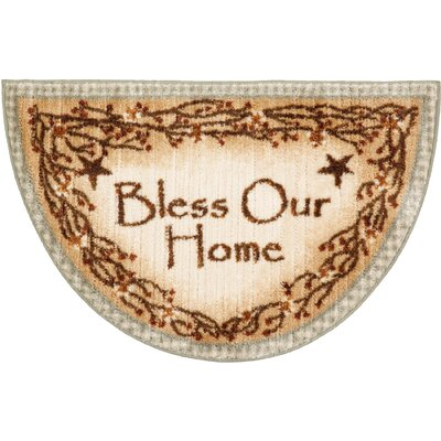 Berry Blossoms Blessing Kitchen Rug