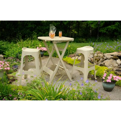 Adams Manufacturing Corporation Quik-Fold 3 Piece Bistro Set