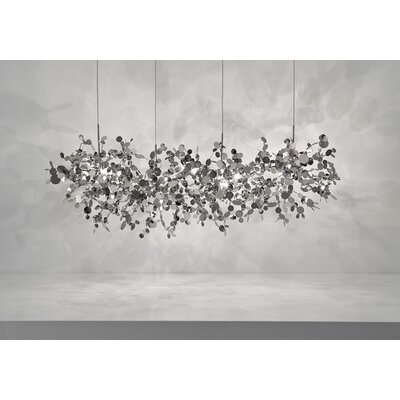 "Terzani Argent 12 Light Pendant 49.2"" Suspension White Iron Finish Pendant"