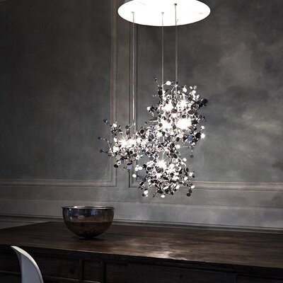 "Terzani Argent 12 Light 29.9"" Suspension White Iron Finish Pendant"