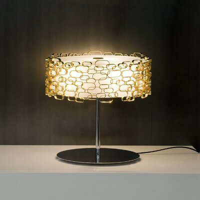 """Terzani Glamour 17.8"""" H Table Lamp with Drum Shade"""