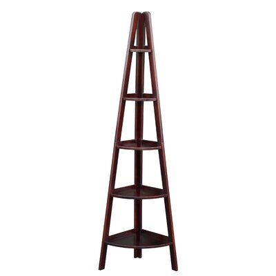 "Casual Home 72"" Corner Ladder Bookcase"