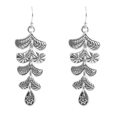 Batik Princess Cut Howlite Drop Earrings