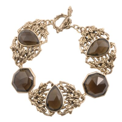 Enchanted Smoky Quartz Link Bracelet