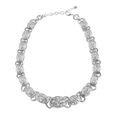 Barse Bellisimo Metal Link Necklace
