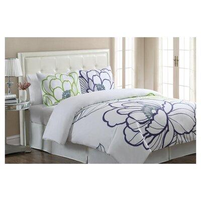 Echelon Home Floral Sketch 3 Piece Duvet Cover Set