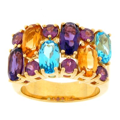 Meredith Leigh Designs Sterling Silver Multi Gemstone Ring