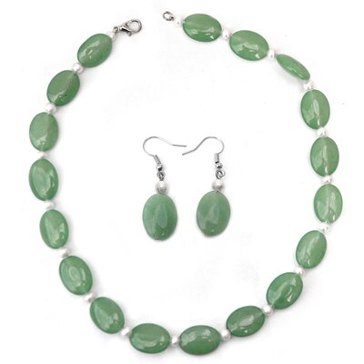 Gemstone Necklace and Earring Set