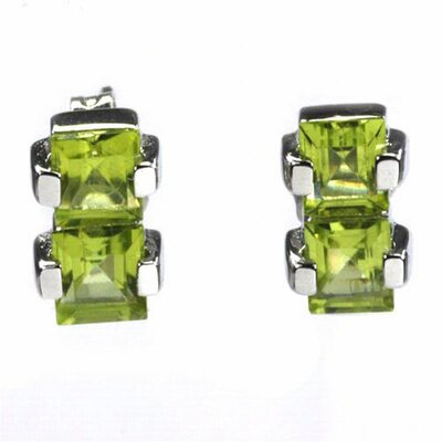DeBuman Square Gemstone Earring