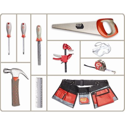 Red Tool Box 10 Piece Tool Set