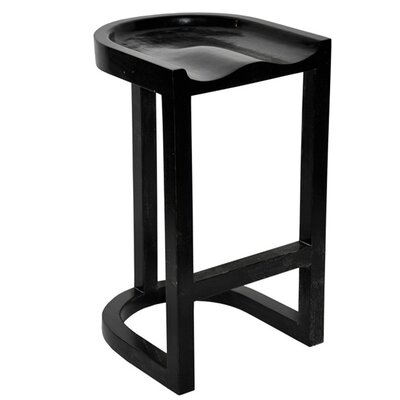 Noir Saddle Barstool