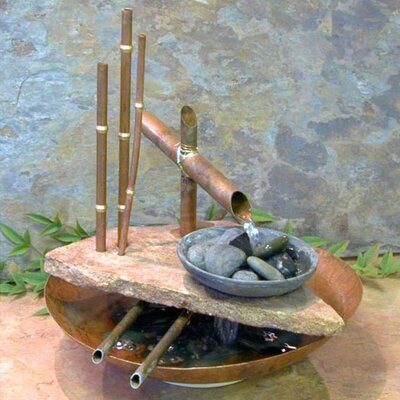 Lotus Well Stone Tabletop Fountain