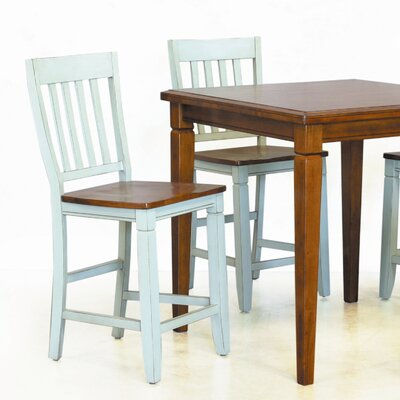 Lifestyle California Avery Counter Height Stool in Distressed Cherry ...