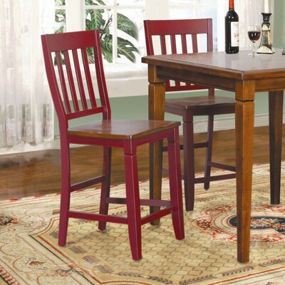 Avery Counter Height Stool in Raspberry