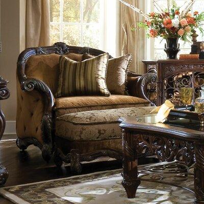 Michael Amini Essex Manor Chair and Ottoman