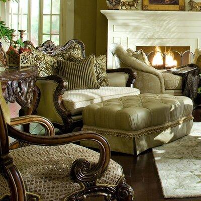 Michael Amini Chateau Beauvais Chair and Ottoman