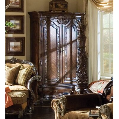 Michael Amini Essex Manor Armoire in Deep English Tea