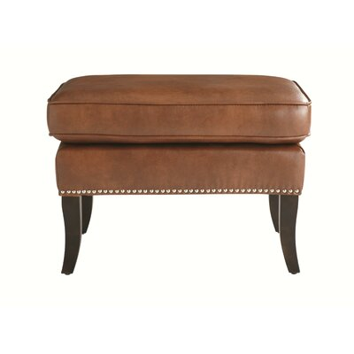 Sunpan Modern Royalton Bonded Leather Armchair and Ottoman