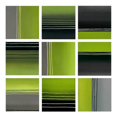 Sunpan Modern Collage 9 Piece Painting Print Set