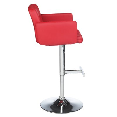 Sunpan Modern Churchill Faux Leather Adjustable Barstool