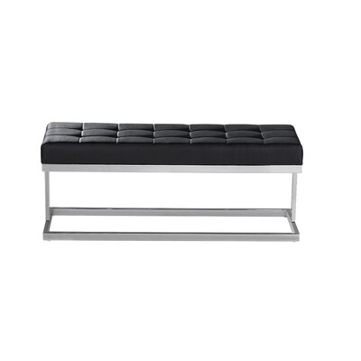 Sunpan Modern Viceroy Faux Leather Bench