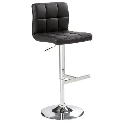 Rockwell Faux Leather Adjustable Bar Stool
