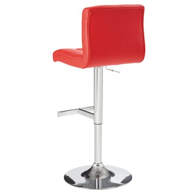 Sunpan Modern Rockwell Faux Leather Adjustable Bar Stool