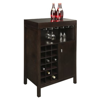 Sunpan Modern Philmore 18 Bottle Wine Bar