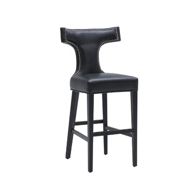 "Sunpan Modern Serafina 30"" Bar Stool with Cushion"