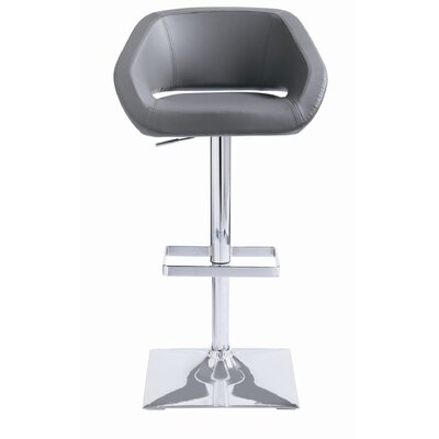 Sunpan Modern Gustavo Faux Leather Adjustable Barstool