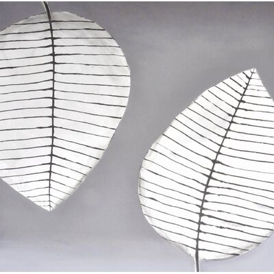 Sunpan Modern Two Leaves Wall Art