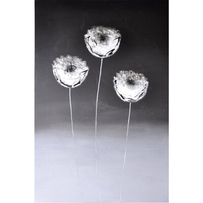 Sunpan Modern Three Flowers Graphic Art