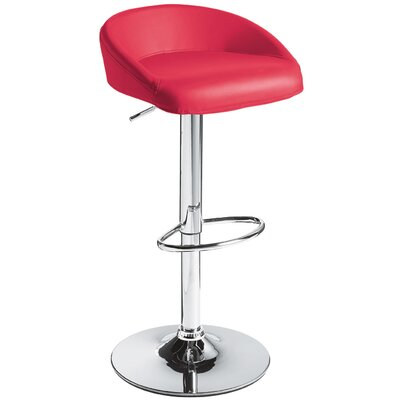 Sunpan Modern Fargo Faux Leather Adjustable Barstool