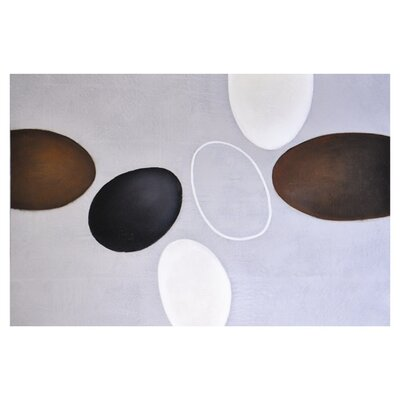 Sunpan Modern Floating Ovals Wall Art