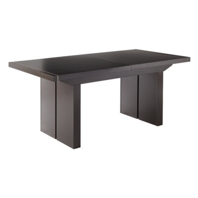 Sunpan Modern Academy Extension Dining Table in Espresso