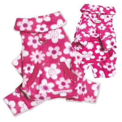Klippo Pet Full Blossom Fleece Turtleneck Dog Pajamas / Bodysuit