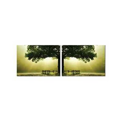 Green Tree 2 Piece Photographic Print Set