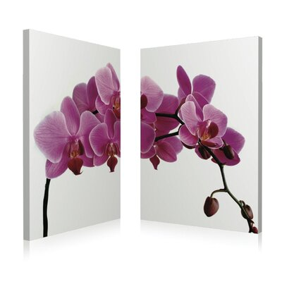 Artistic Bliss Pink Orchid Wall Art (Set of 2)