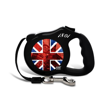 26 Bars & A Band Avant Garde British Invasion Retractable Dog Leash