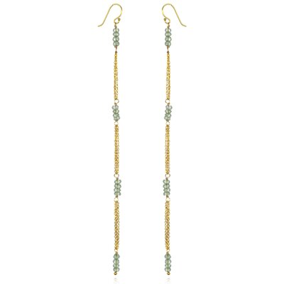 Amanda Rudey White Oak 18k Vermeil Mystic Topaz Cordelia Earrings