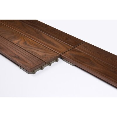 """Thermory USA Wood 31.3"""" x 7.835"""" Interlocking Quick Deck Tiles in Brown"""