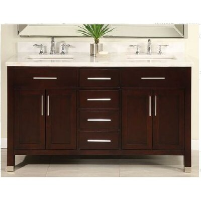 "Empire Industries Monaco 60"" Double Bathroom Vanity Set"