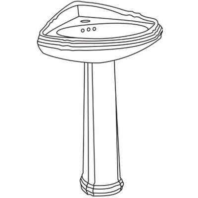 Regent Pedestal Bathroom Sink - R22W / RCW