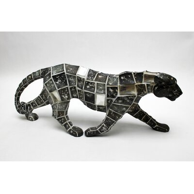 Vita V Home Mosaic Animal Leopard Walking Statue